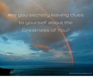 are you secretly leaving clues